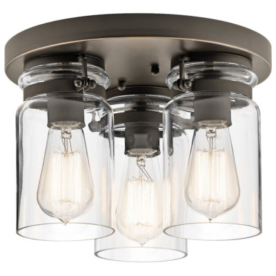 Flush Mount LightingIndustrial rustic BRINLEY Kichler 42891oz