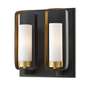 Wall Sconce Lighting Transitional AIDEEN Z-Lite 6000-2S-BZGD