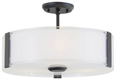 Flush Mount Lighting Contemporary ZURICH Dvi DVP14512GR-SS-OP