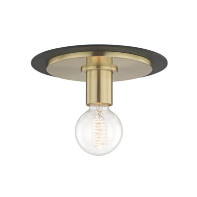 Flush Mount Modern MILO Hudson Valley H137501S-AGB-BK
