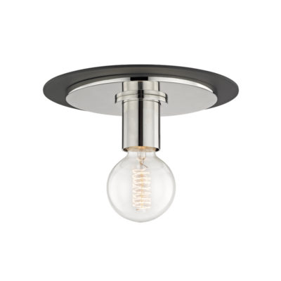 Flush Mount Modern MILO Hudson Valley H137501S-PN/BK